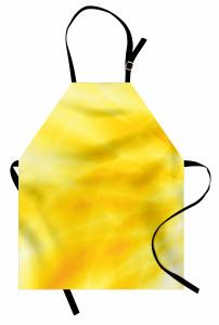 Gün Doğumu Temalı Mutfak Önlüğü Sarı Dalga Işık