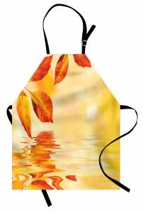 Büyüleyici Güneş Temalı Mutfak Önlüğü Sonbahar Yaprağı