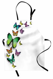 Uçan Kelebekler Mutfak Önlüğü Bahar Çeyizlik