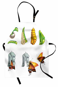 Kelebeğin Doğuşu Mutfak Önlüğü Yeşil Turuncu