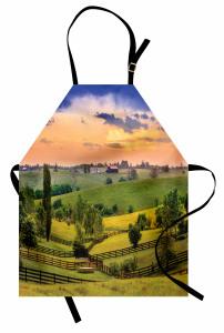 Çiftlik Evi ve Orman Mutfak Önlüğü Yeşil Turuncu