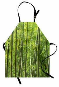 Bambu Ağacı Desenli Mutfak Önlüğü Huzur Verici