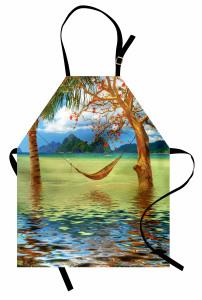 Palmiye ve Hamak Mutfak Önlüğü Deniz