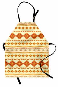 Kızılderili Dokuma Mutfak Önlüğü Turuncu