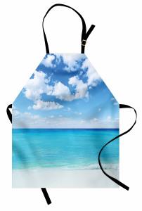 Tropikal Deniz Kenarı Mutfak Önlüğü Tropikal Deniz Kenarı Bulutlar