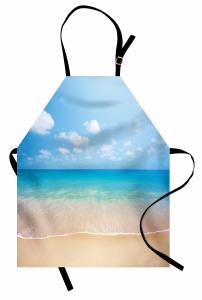 Okyanus Manzarası Mutfak Önlüğü Kumsalda Okyanus Manzarası