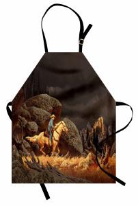 Atlı Kovboy Mutfak Önlüğü Atlı Kovboy Kahverengi