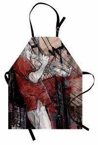 Müzisyen Temalı Mutfak Önlüğü Müzik Caz Trompet