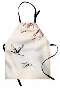 Kiraz Çiçekleri Desenli Mutfak Önlüğü Çeyizlik