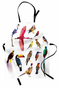 Rengarenk Kuşlar Temalı Mutfak Önlüğü Çeyizlik