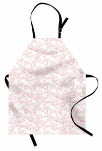 Kiraz Çiçeği Desenli Mutfak Önlüğü Pembe Trend