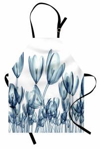 Dekoratif Lale Desenli Mutfak Önlüğü 3D Çiçek