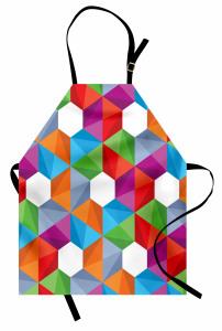 Geometrik Desenli Mutfak Önlüğü Modern Tasarım
