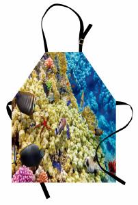 Sarı Mavi Mercan Mutfak Önlüğü Deniz