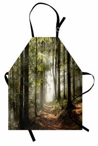 Orman Yolu Mutfak Önlüğü Yeşil Ağaç Doğa