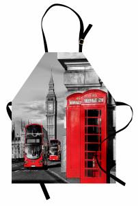 Telefon Kulübesi Temalı Mutfak Önlüğü Londra