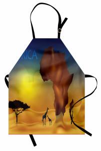 Zürafa ve Afrika Mutfak Önlüğü Safari