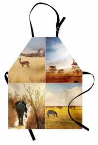 Afrika Yaban Hayatı Mutfak Önlüğü Doğa