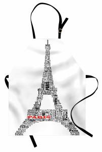 Eyfel Kulesi Mutfak Önlüğü Eyfel Kulesi Siyah Beyaz