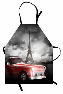 Romantik Eyfel Mutfak Önlüğü Romantik Eyfel Kulesi Gri