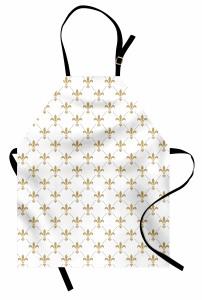 Zambak Duvar Kağıdı Mutfak Önlüğü Beyaz
