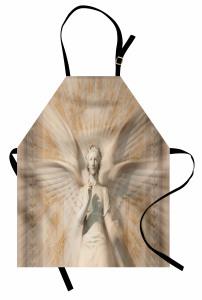 Heykel Desenli Mutfak Önlüğü Melek Sanat Antik