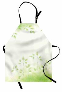 Bahar Temalı Mutfak Önlüğü Yeşil Yaprak Çeyizlik