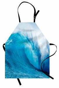 Okyanus Dalgaları Mutfak Önlüğü Okyanus Dalgaları Sörf Mavi