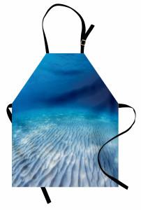 Su Altında Yaşam Mutfak Önlüğü Sualtı Yaşam Temalı Okyanus