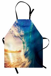 Okyanusta Gün Doğumu Mutfak Önlüğü Gün Doğumu Sörf