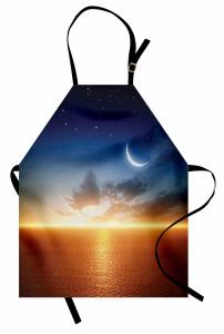 Gün Batımı Ay Yıldızlar Mutfak Önlüğü Gün Batımı Ay Yıldızlar