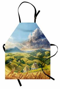 Dağ Manzarası Desenli Mutfak Önlüğü Dağ Manzaralı