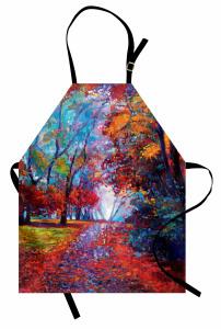 Rengarenk Sonbahar Mutfak Önlüğü Orman