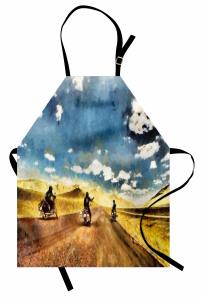 Motosiklet ve Yol Mutfak Önlüğü Macera
