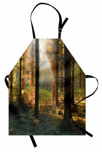 Sessiz Orman Mutfak Önlüğü Orman Yeşil