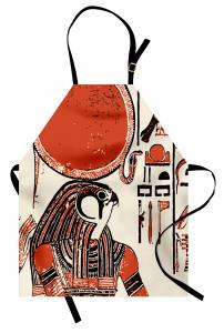 Hiyeroglif Desenli Mutfak Önlüğü Antik Mısır