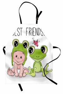 Bebek ve Kurbağa Mutfak Önlüğü Çocuklara