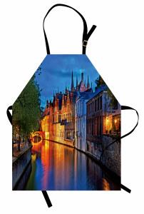 Kilise Kanal ve Köprü Mutfak Önlüğü Antik