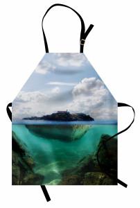 Deniz Altı Ülkesi Mutfak Önlüğü Deniz Mavi Yeşil Doğa