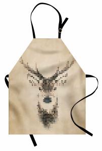 Geyik Figürlü Mutfak Önlüğü Geyik figürü Modern Sanat