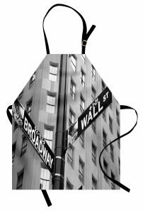 Wall Street ve Broadway Mutfak Önlüğü ABD