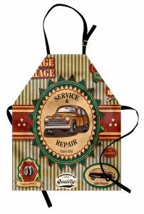 Nostaljik Araba Desenli Mutfak Önlüğü Rengarenk