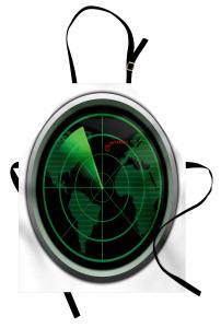 Uçak Radarı Mutfak Önlüğü Siyah Yeşil