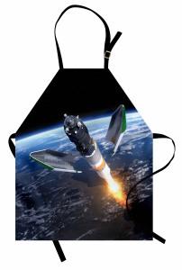 Uzayın Derinlikleri Mutfak Önlüğü Dünya Kozmos Mavi