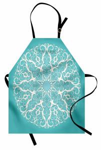 Dantel Desenli Mutfak Önlüğü Beyaz Dantel Figürü Şık Tasarım