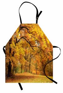 Turuncu Yapraklı Ağaç Mutfak Önlüğü Doğa Orman Ağaç Turuncu