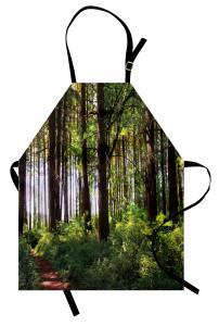 Yemyeşil Orman Mutfak Önlüğü Ağaç Yeşil Orman