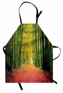 Sarı Orman Mutfak Önlüğü Ağaç Sarı Turuncu Doğa