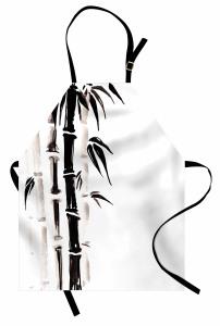 Siyah Beyaz Bambu Mutfak Önlüğü Trend