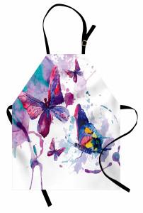 Rengarenk Kelebek Mutfak Önlüğü Çeyizlik